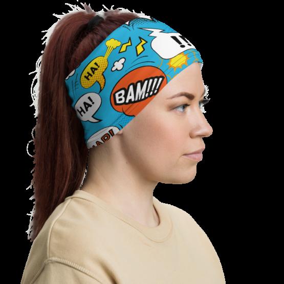 Comic Bubbles Neck Gaiter Women Headband