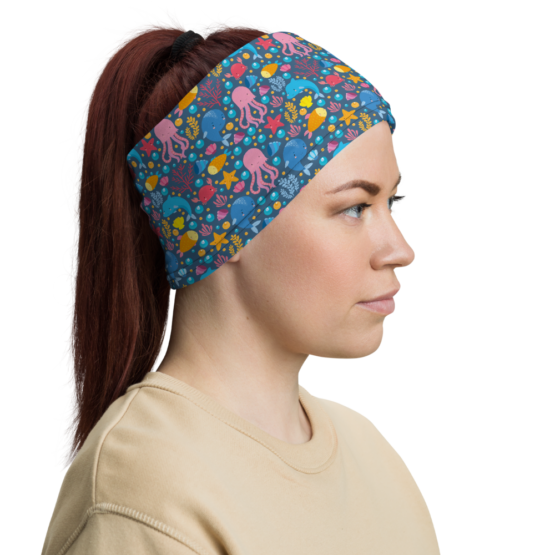 Cute Marine Animals Neck Gaiter Headband Side