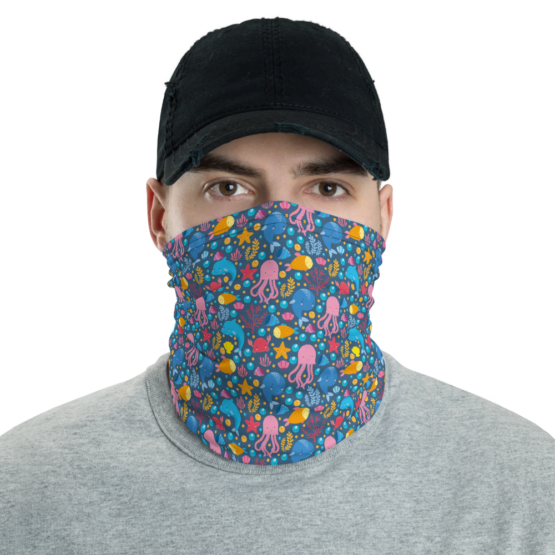 Cute Marine Animals Neck Gaiter Men Face shield