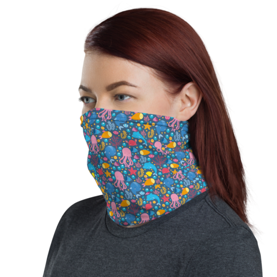 Cute Marine Animals Neck Gaiter Women Face shield