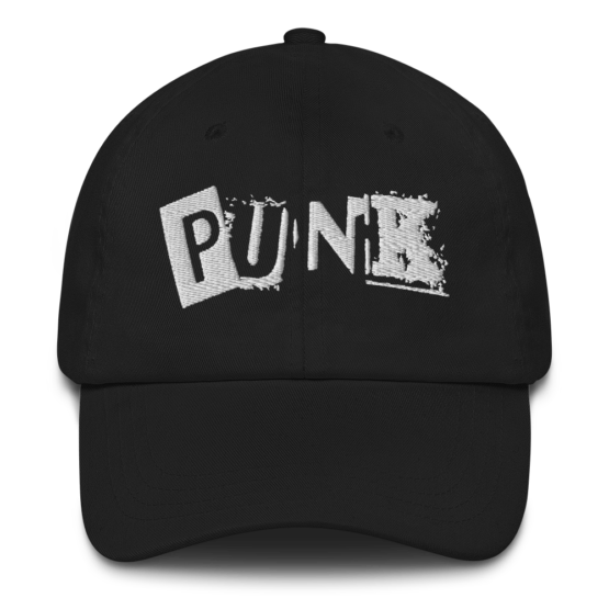 Embroidered Punk Dad hat Front