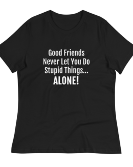 Good Friends Women's Relaxed Black T-Shirt