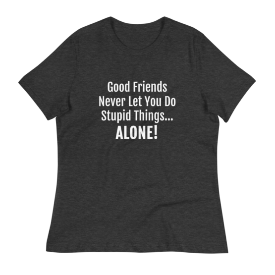 Good Friends Women's Relaxed Dark Grey Heather T-Shirt