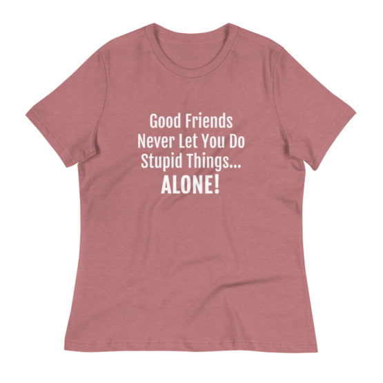 Good Friends Women's Relaxed Heather Mauve T-Shirt