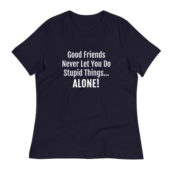 Good Friends Women's Relaxed Navy T-Shirt