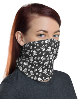 Skull Pattern Neck gaiter women face shield