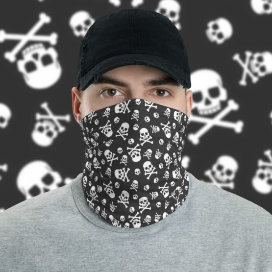 Skull Pattern Neck gaiter face shield