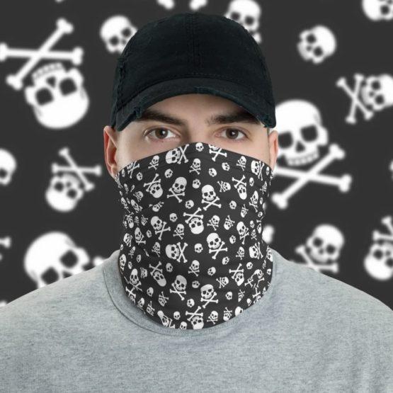 Skull Pattern Neck gaiter face shield