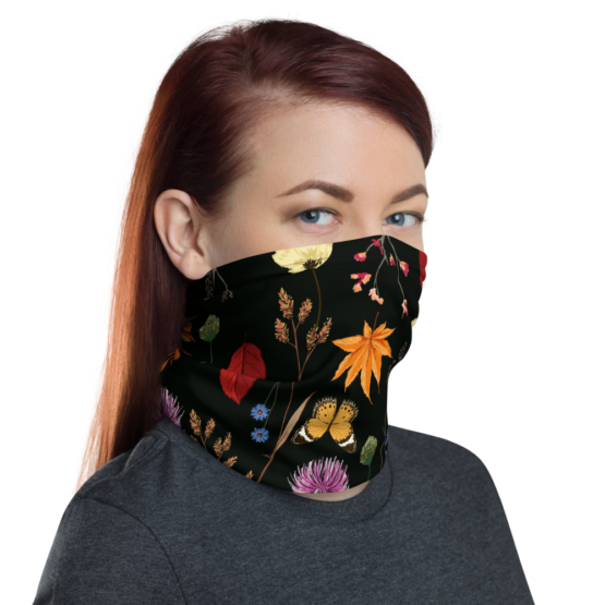Summer Night Meadow Neck Gaiter face shield right side