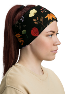 Summer Night Meadow Neck Gaiter Woman headband right side