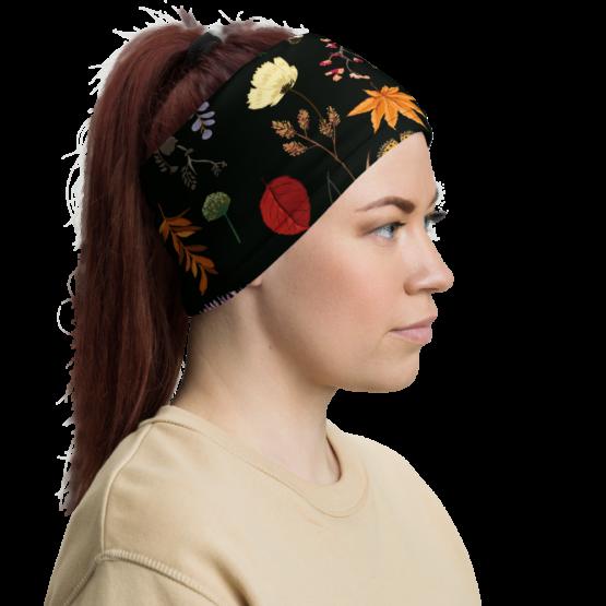 Summer Night Meadow Neck Gaiter Woman headband right side