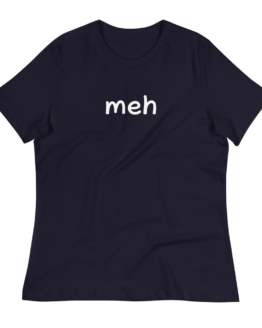 Meh Women's Relaxed Navy T-Shirt