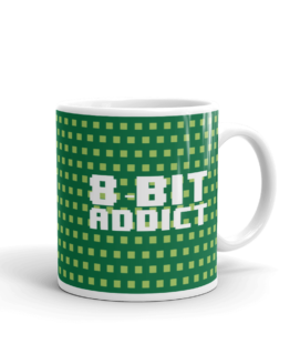 Retro 8 - Bit Addict Mug right