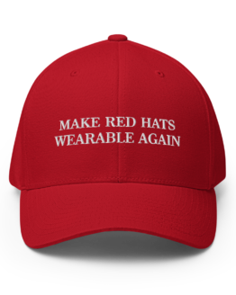 Make Red Hats Wearable Again Structured Twill Cap