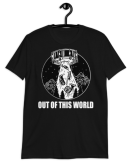 Out Of This World Short-Sleeve Unisex T-Shirt Black