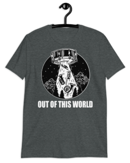 Out Of This World Short-Sleeve Unisex T-Shirt Heather Grey