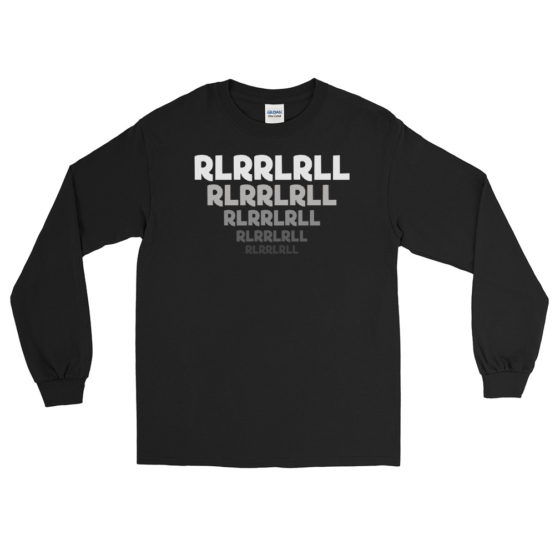 Paradiddle RLRRLRLL Men's Long Sleeve Shirt