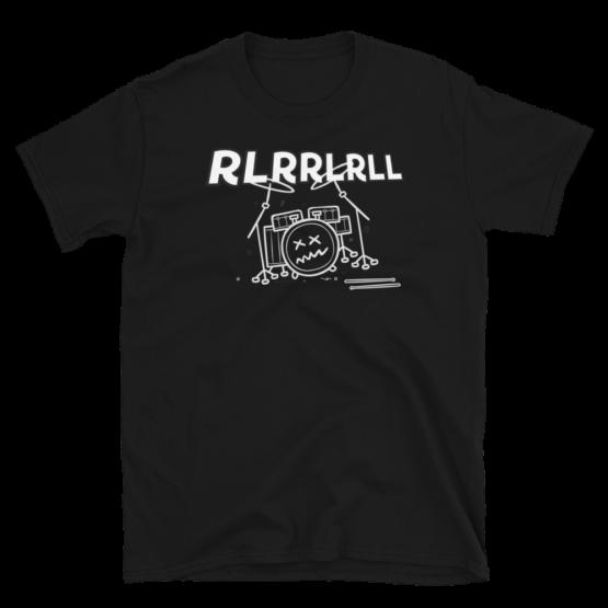 Paradiddle RLRRLRLL Short-Sleeve Unisex T-Shirt Black