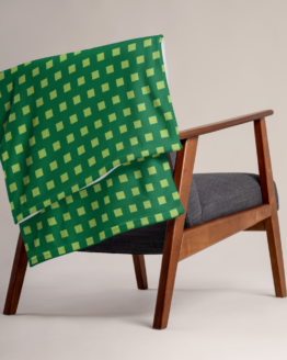 Retro 8 - BIT Throw Blanket folded on chair