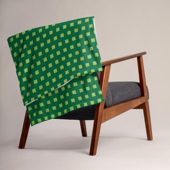 Retro 8 - BIT Throw Blanket folded on chair