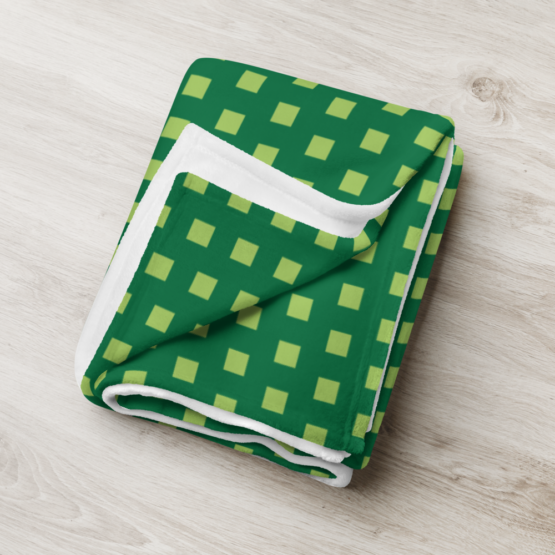 Retro 8 - BIT Throw Blanket life folded