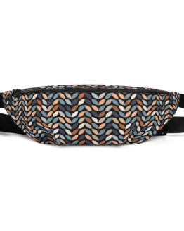 Retro Pattern Fanny Pack Front