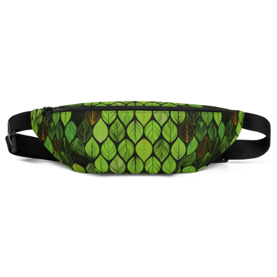 Summer Green Leaves Fanny Pack front
