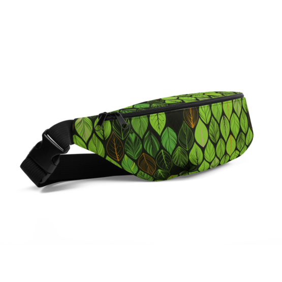 Summer Green Leaves Fanny Pack side