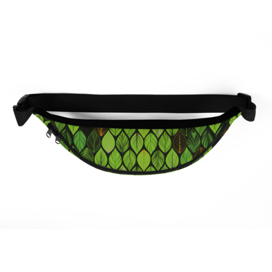 Summer Green Leaves Fanny Pack Top