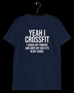 Yeah I Crossfit Short-Sleeve Unisex Navy T-Shirt