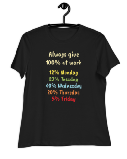 Always Give 100% At Work Women's Relaxed T-Shirt