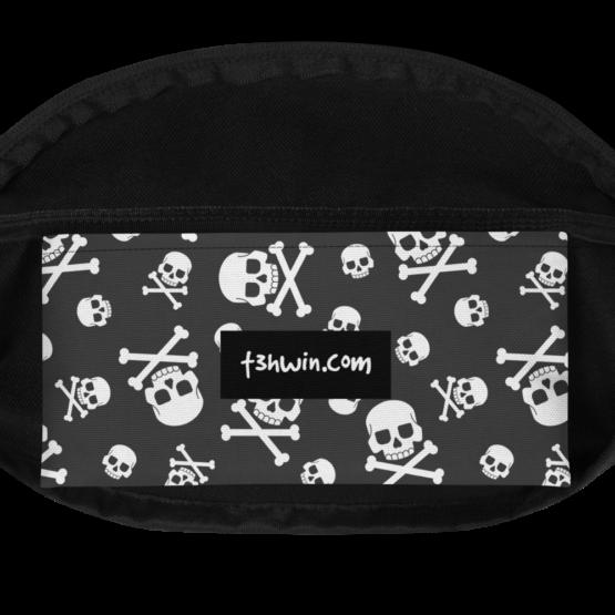 Skull Pattern Fanny Pack Pocket